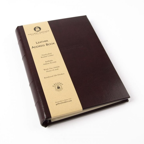 gallery leather Other - Gallery Leather Burgundy Leather Address Book